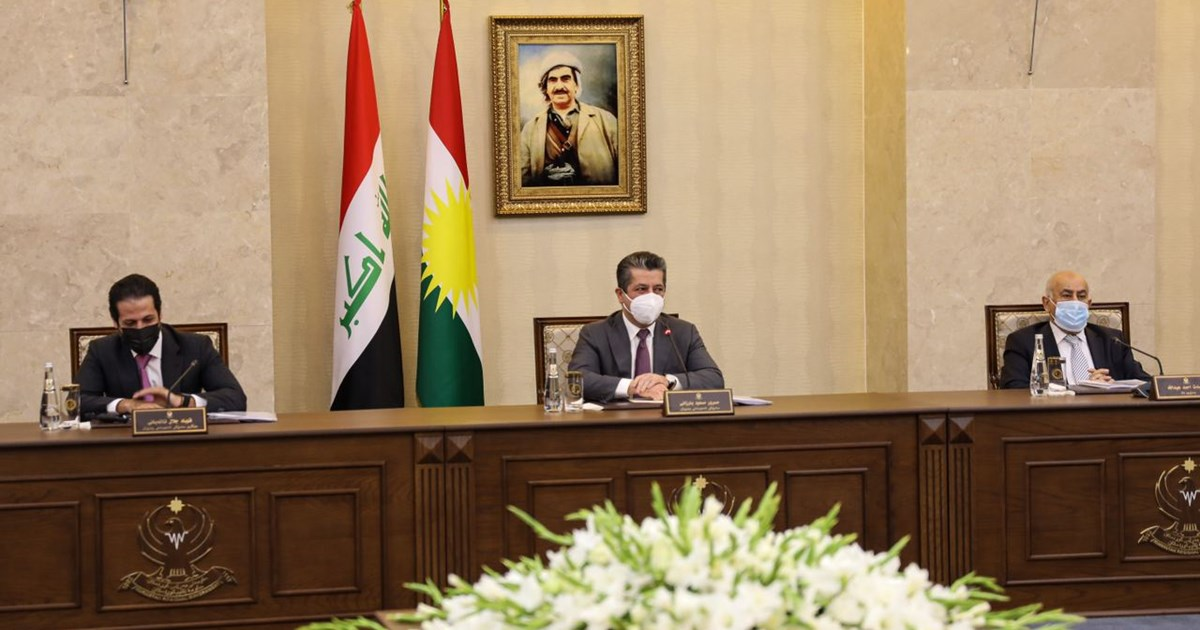 Prime Minister Masrour Barzani convenes council of Ministers to address...